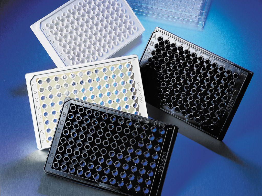 microplacas de laboratorio
